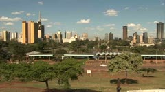 Nairobi Skyline, Nairobi - Kenya - stock footage