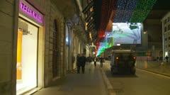 Christmas night (glidecam 2) Stock Footage