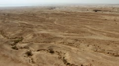 Aerial of Jordan Valley, Israel Stock Footage