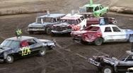 Demolition derby cars - stock footage