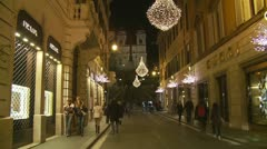 Christmas night (glidecam 7) Stock Footage