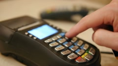 HD - Credit Card Terminal Stock Footage