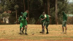 Kids playing football, Nairobi - Kenya - stock footage