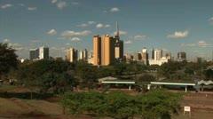 Pan Nairobi Skyline, Nairobi - Kenya Stock Footage