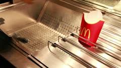 Mcdonalds potatoes Stock Footage