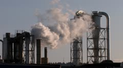 Factory Smoke Stacks 2 Stock Footage