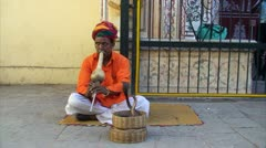 Snake charmer Stock Footage