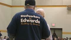 Democratic Iowa Caucus 2008 Stock Footage