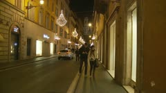 Christmas night (glidecam 5) Stock Footage