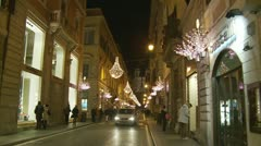 Christmas night (glidecam 4) Stock Footage