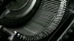 Old Writing Machine Stock Footage