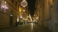 Christmas night (glidecam 3) Stock Footage