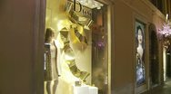 Luxury shops glidecam Stock Footage