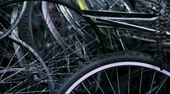 Bycicles Stock Footage