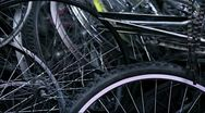 Stock Video Footage of Bycicles