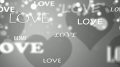 Silver Wedding Love Text Background Stock Footage