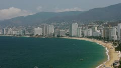 Acapulco Bay With Buildings (HD) Stock Footage