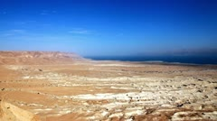 Dead Sea pan Stock Footage