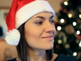 Stock Video Footage of Portrait of happy young woman in santa cap NTSC