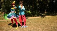 Two clowns Stock Footage
