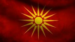 Macedonia flag. Stock Footage