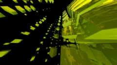 Green cube Stock Footage