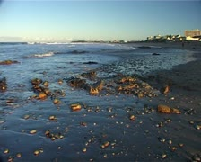 Humewood Beach at Sunset in Port Elizabeth, South Africa GFSD Stock Footage