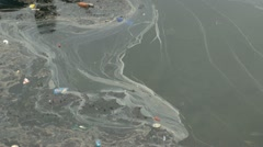 Trash and Polluted Water Stock Footage