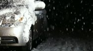 Car in Snow Stock Footage