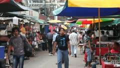 Street market in Chinatown, Kuala Lumpur - stock footage