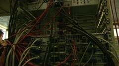 A system block of the computer, server - stock footage