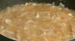 Stewed vegetables. Stock Footage