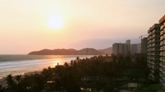 Acapulco Sunset to Night Time Lapse (HD) Stock Footage