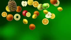 Falling Fruits Stock Footage