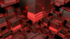 Red glass Stock Footage