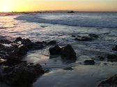 Beautiful shot of Port Elizabeth Harbor and Nelson Mandela Bay at Sunset GFSD Stock Footage