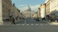 Vatican City St.Peter's Basilica traffic timelapse Stock Footage