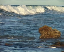Pan across Wave coming in from the Sea GFSD Stock Footage