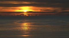 Moody Fire Ocean Seascape Sunset Stock Footage