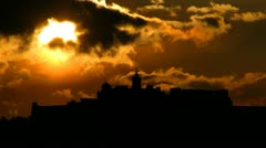 Malta Gozo Citadel sunset - stock footage