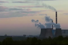 Stock Video Footage of coal-burning power plant
