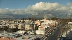 Grouse Mountain, Vancouver Cloud and Winter Timelapse Stock Footage