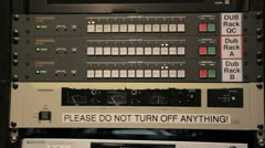 Slow Tilt of Broadcast Equipment Stock Footage