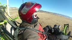 Pilot ultralight aircraft low level P HD 034-2 Stock Footage