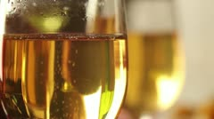 Two Champagne Flutes Close-Up Stock Footage