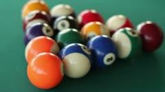 Billiard Ball Break Close Up Slow Motion - stock footage