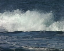 Waves breaking and rolling in to Shore, South Africa GFSD Stock Footage
