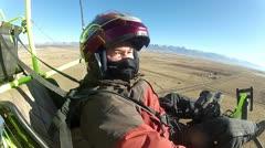 Pilot ultralight aircraft high altitude P HD 034-2 Stock Footage