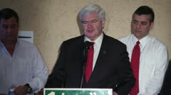 Newt Gingrich Talks About Latin America - stock footage