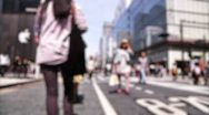 Stock Video Footage of Anonym Crowd Tokyo SlowMotion 60fps 23